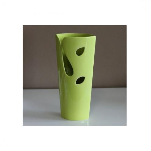 Autronic Keramická váza zelená, 27 cm