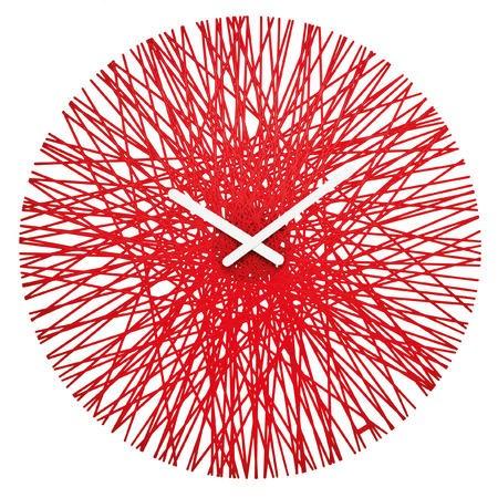 SILK nástěnné hodiny červená, Koziol