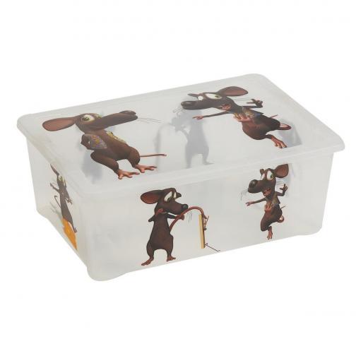 Plastový úložný box Myš, 10 l