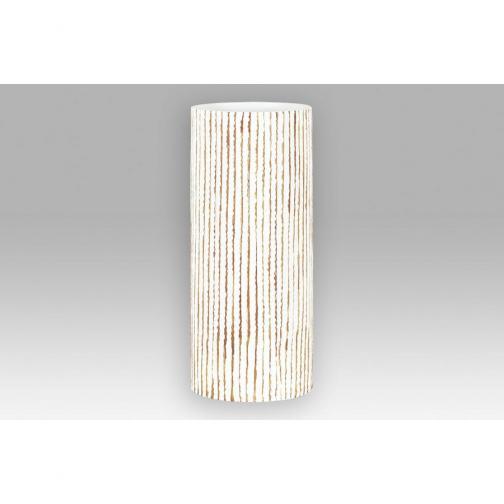 Autonic Polyresinová váza Stripe béžová, 35,5 cm