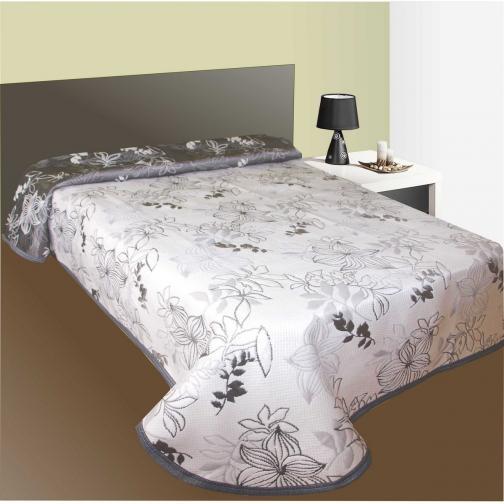 Forbyt Přehoz na postel Lisbon šedý, 240 x 260 cm