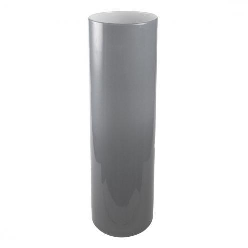 Skleněná váza Luna šedá, 33 cm