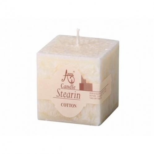 Stearinová svíčka Capri Bavlna, hranol