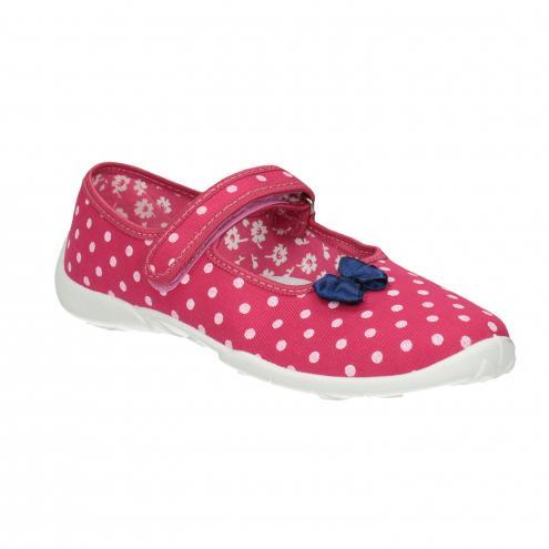 Dětská domácí obuv s páskem přes nárt
