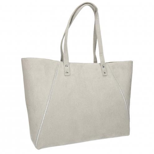 Béžová kabelka se stříbrnými detaily