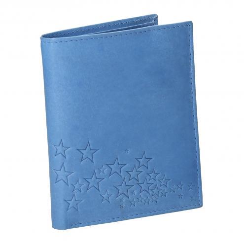 Modrá kožená peněženka