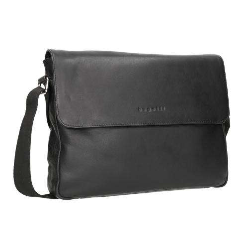 Černá kožená Crossbody taška