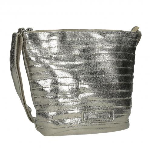 Zlatá kožená kabelka