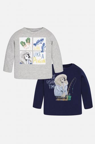Mayoral - Dětské tričko s dlouhým rukávem 68-98 cm (2-pack)