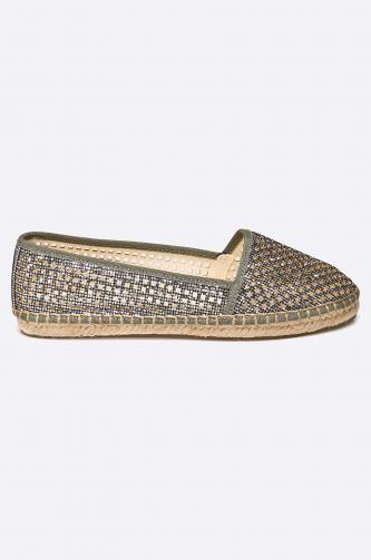 Buffalo - Espadrilky Glitter Silver