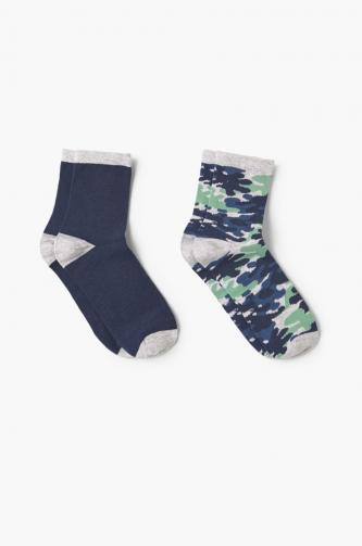 Mango Kids - Dětské ponožky Camu (2-pak)
