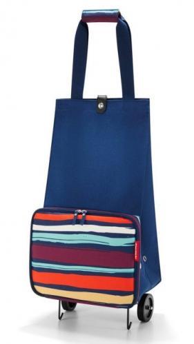 Nákupní taška na kolečkách Reisenthel Foldabletrolley Artist stripes
