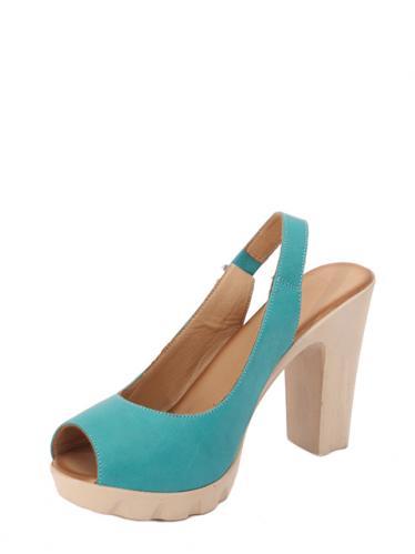 Parione Dámské kožené sandály na podpatku PR076