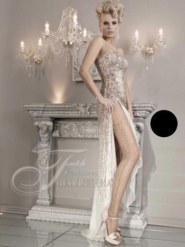 Ballerina Dámské punčocháče CABERNE-TIGHTS-BLACK-20DEN