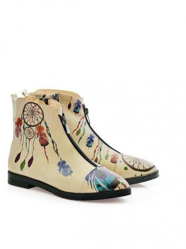GOBY Kotníkové boty na podpatku FER108
