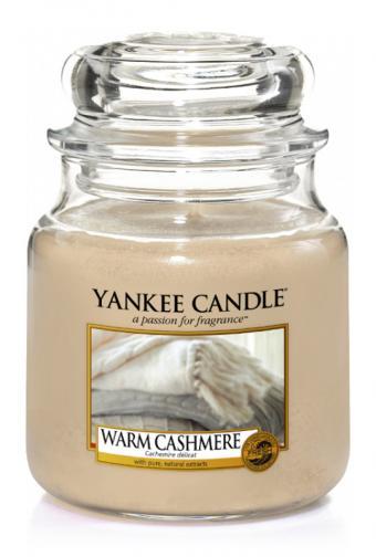 Yankee candle Svíčka ve skleněné dóze Yankee Candle -Hřejivý kašmír 1443123
