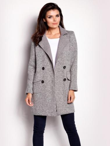 Awama Dámský kabát A149_grey