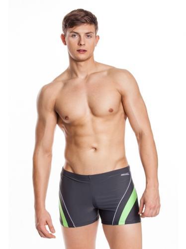 Aquaspeed Pánské plavky SHORTS DENNIS GREY/GREEN
