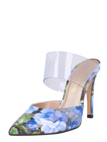 El Dantes Dámské boty na podpatku D15380-11_AZUL - VINILO CRISTAL