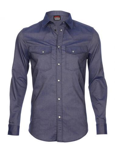 Fiorucci Pánská košile, YA260J_ 73274_blau 706