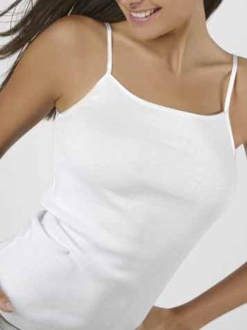 AB Tricot Dámská košilka, PDW 014 C TOP WHITE SET OF 2 (2 kusy)