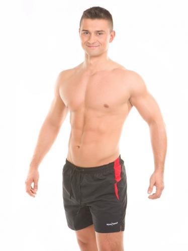 Aquaspeed Pánské plavecké šortky SHORTS THOMS BLACK/RED