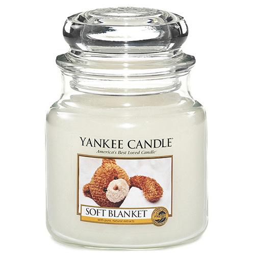 Yankee candle Svíčka ve skleněné dóze Yankee Candle - Jemná přikrývka 169633
