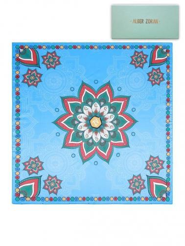 Alber Zoran Dámský šátek MANDALA_BLUE