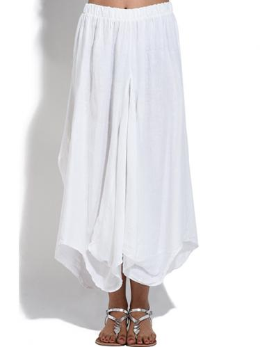 100% Lin Dámská sukně 6276 - JUPE DAPHNE S24989 BLANC