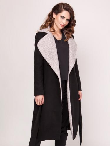 Bonnie Su. Dámský kabát B16_BLACK