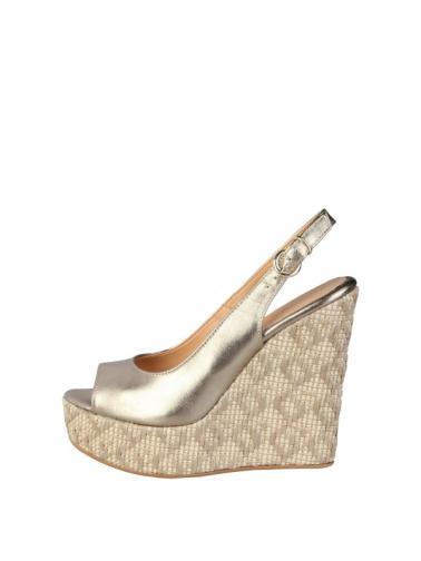 Made in Italia Dámské sandály na klínku VANNA_PLATINO