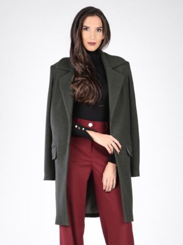 Carla by Rozarancio Dámský kabát CR17F P3100_DARK GREEN
