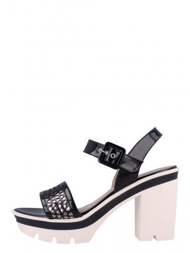 Roberto Botella Dámské sandály na podpatku M16241-63_NEGRO