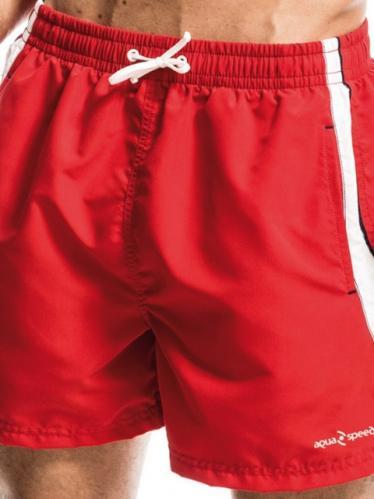 Aquaspeed Pánské plavecké šortky SWIM SHORT MEN HENRY 31 RED WHITE