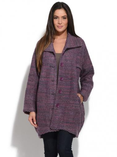 Bella Blue Dámský kabát 315H137 VIOLET