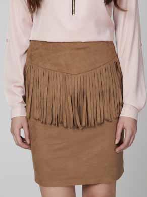 AMBIGANTE Dámská sukně ASP0018_camel