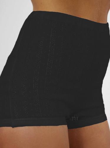AB Tricot Dámské kalhotky RDM 005 W SHORTY BLACK SET OF 2 (2 kusy)