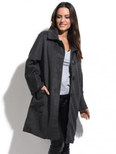 Bella Blue Dámský kabát A5-H2327 GRIS
