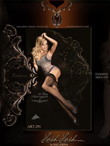 Ballerina Dámské samodržící punčochy 291-HOLD-UPS-BLACK