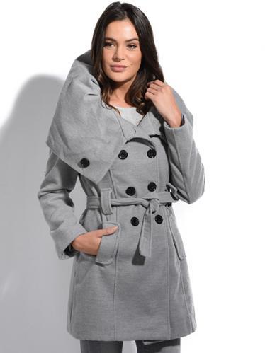 Special Coats Dámský kabát 5515-MANTEAU ADELE P3096 GRIS