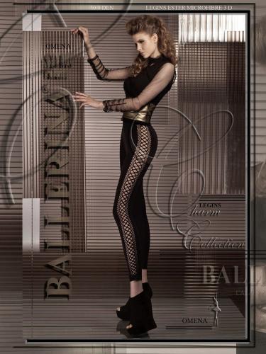 Ballerina Dámské legíny OMENA-LEGGING-BLACK-60DEN