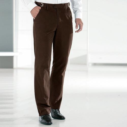 Blancheporte Kalhoty, 35% bavlna, nastavitelný pas kaštanová