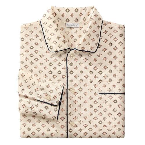 Blancheporte Prodloužený pyžamový kabátek s potiskem béžová