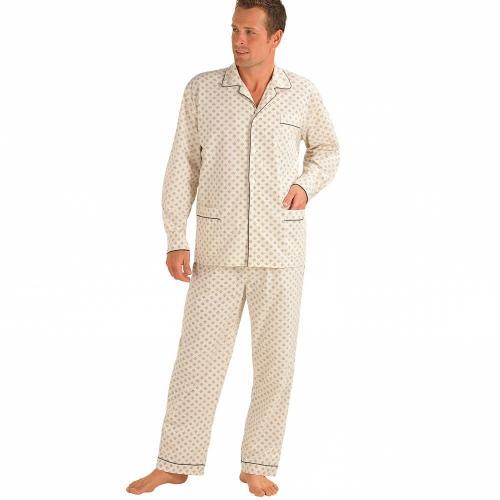 Blancheporte Klasické pyžamo s potiskem béžová