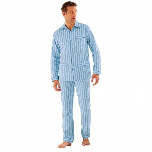 Blancheporte Klasické pyžamo, popelín modrá