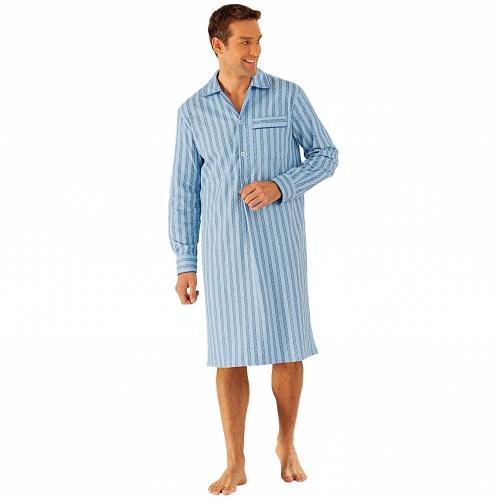 Blancheporte Pánská noční košile, popelín modrá