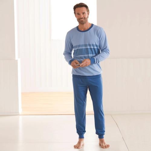 Blancheporte Pruhované pyžamo s kalhotami modrá