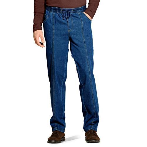 Blancheporte Kalhoty z lehkého denimu modrá