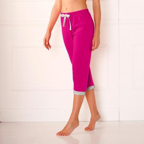Blancheporte 3/4 pyžamové jednobarevné kalhoty fuchsie