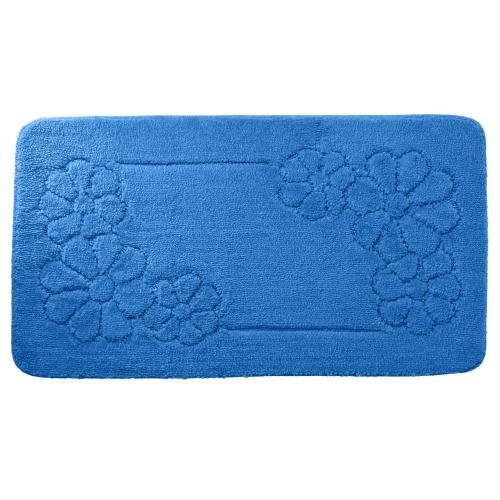 Blancheporte Koupelnová předložka, Květy modrá